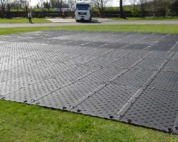 Heavy Duty Man-handleable Ground Protection And Temporary Roadway Or Carpark Mat